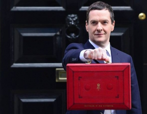 George and his budget briefcase